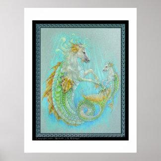 Hipocampo (dragón del caballo) póster