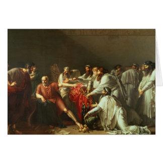 Hipócrates que rechaza los regalos de Artaxerxes I Tarjeta