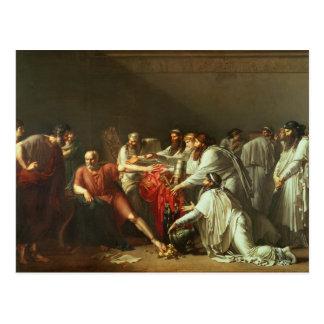 Hipócrates que rechaza los regalos de Artaxerxes I Postal