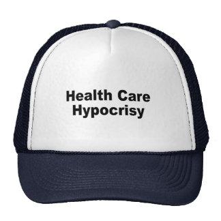 Hipocresía de la atención sanitaria gorros