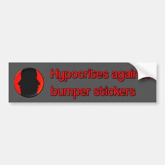 Hipócritas contra pegatinas para el parachoques etiqueta de parachoque