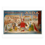 Hipódromo 1908 de Giuseppe Verdi Aida Postal