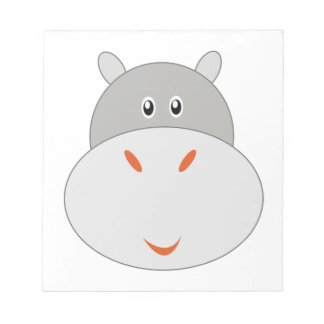Hipopótamo adorable poco parque zoológico libreta para notas