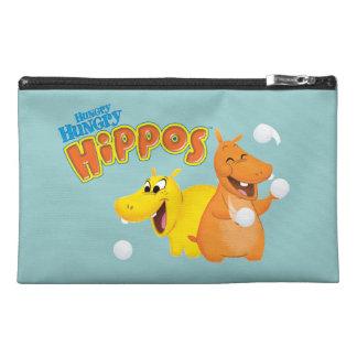 Hipopótamo amarillo y anaranjado