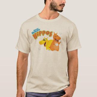 Hipopótamo amarillo y anaranjado playera