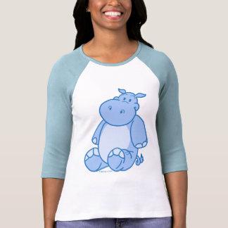 Hipopótamo azul camisetas