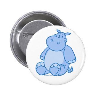 Hipopótamo azul pins
