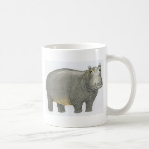 Hipopótamo básico taza clásica