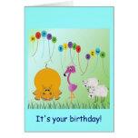 Hipopótamo, Birdy, tarjeta de cumpleaños de 2 ovej