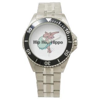 Hipopótamo de Hip Hop de la CAMISETA Reloj De Mano