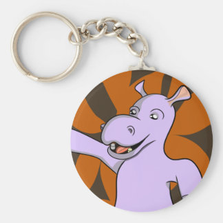 Hipopótamo de Holger Llavero Redondo Tipo Pin