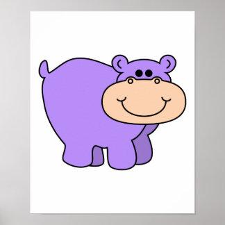 hipopótamo de la púrpura del bebé póster
