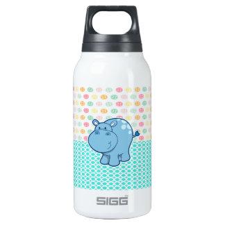 Hipopótamo de los azules cielos en fondo colorido