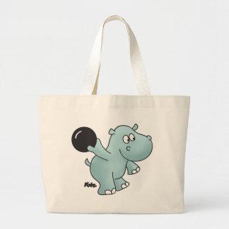 Hipopótamo de los bolos bolsas de mano