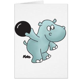 Hipopótamo de los bolos felicitacion
