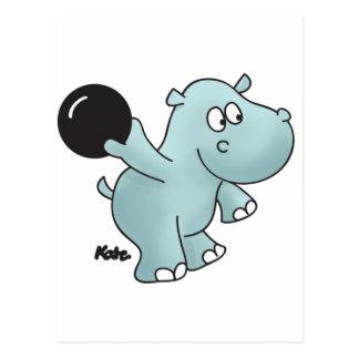Hipopótamo de los bolos postal