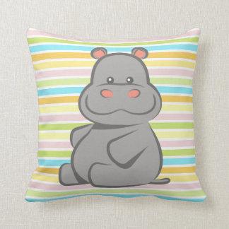 Hipopótamo del bebé cojin