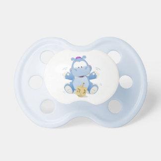 Hipopótamo del bebé con el pacificador de Dreidel Chupete De Bebé