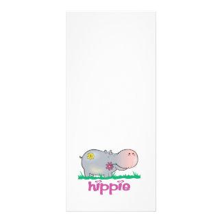 hipopótamo del hippie tarjeta publicitaria