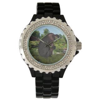 Hipopótamo del obús relojes de mano