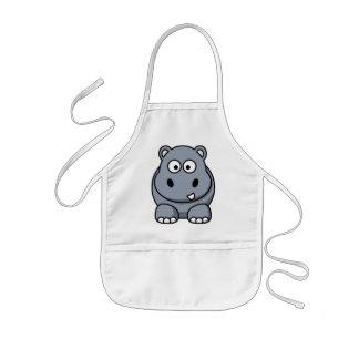 Hipopótamo divertido lindo delantal infantil