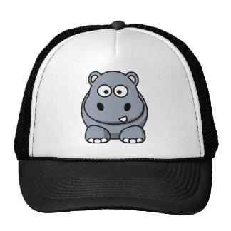 Hipopótamo divertido lindo gorro