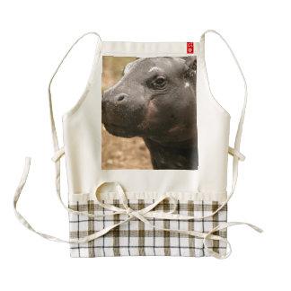 Hipopótamo enano delantal zazzle HEART