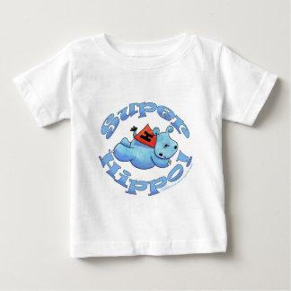 Hipopótamo estupendo playera de bebé