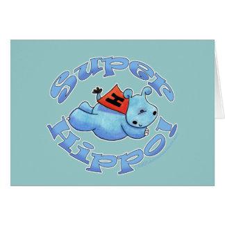 Hipopótamo estupendo tarjetas