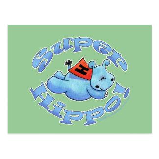 Hipopótamo estupendo tarjetas postales