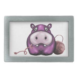 Hipopótamo feliz del ganchillo del hipopótamo hebilla de cinturón