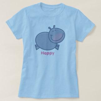 Hipopótamo feliz playera