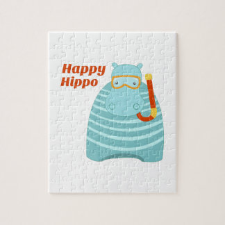 Hipopótamo feliz puzzle