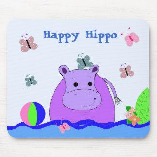 Hipopótamo feliz tapete de ratón