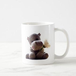 Hipopótamo feliz taza clásica