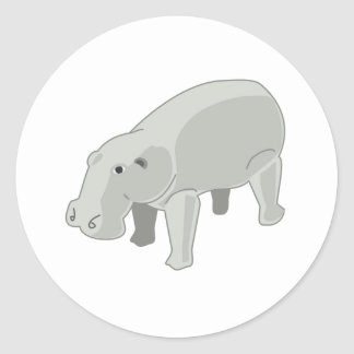 Hipopótamo gris pegatinas