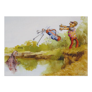 Hipopótamo hambriento poster