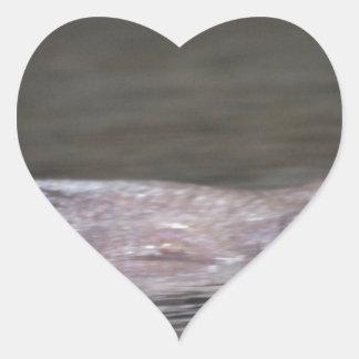 Hipopótamo hambriento pegatina de corazon