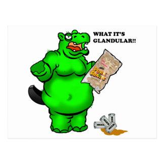 hipopótamo hambriento postal