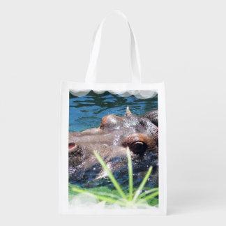 Hipopótamo hambriento bolsa para la compra