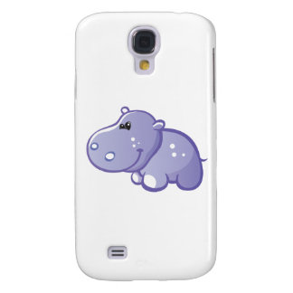 Hipopótamo lindo carcasa para galaxy s4