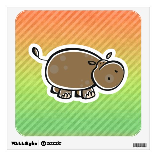 Hipopótamo lindo; Colorido