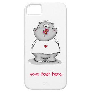 Hipopótamo lindo de la caja del teléfono con la iPhone 5 fundas