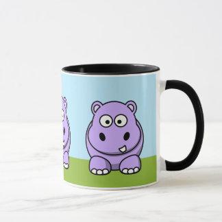 Hipopótamo lindo de la lavanda