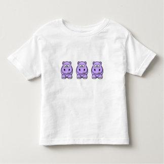Hipopótamo lindo de la lavanda playeras