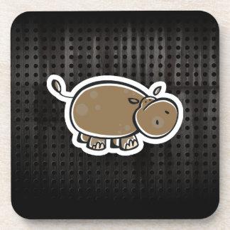 Hipopótamo lindo; Fresco Posavaso