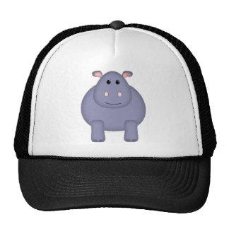 Hipopótamo lindo gorras