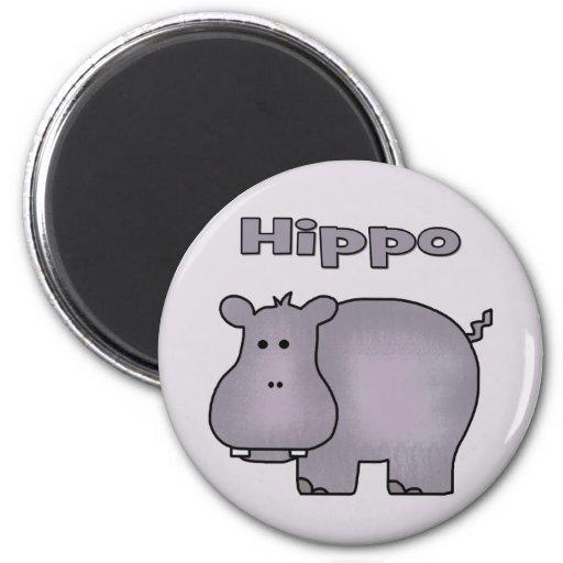Hipopótamo lindo imán de frigorífico
