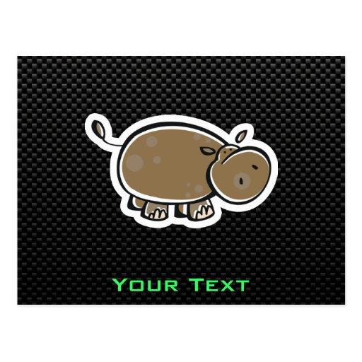 Hipopótamo lindo; Liso Tarjeta Postal