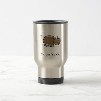 Hipopótamo lindo; Metal-mirada Taza Térmica